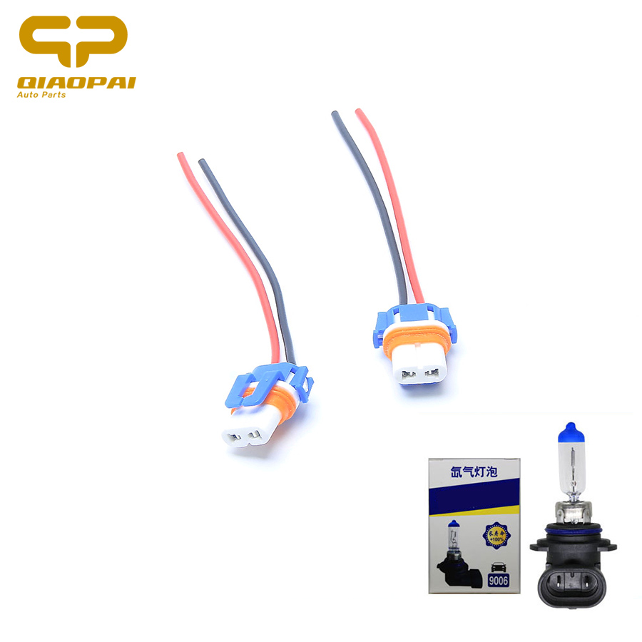 Automotive Wiring Harness Headlight Library New H4 Bulb Male Wire Connector Plug Socket 2pcs Hb4 9006 Led Ceramic Lamp Copper Car
