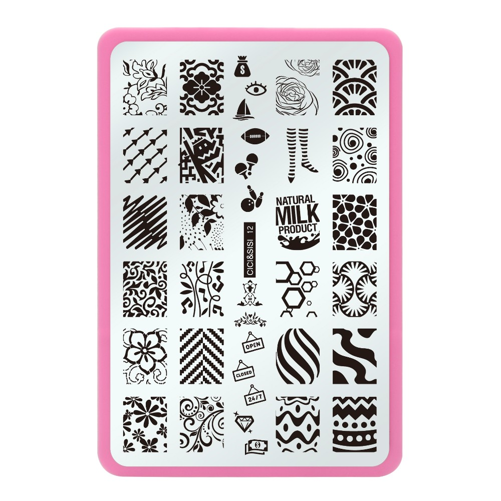 image relating to Printable Arrow Stencil known as Nail artwork stencil templates printable - pelc.tk