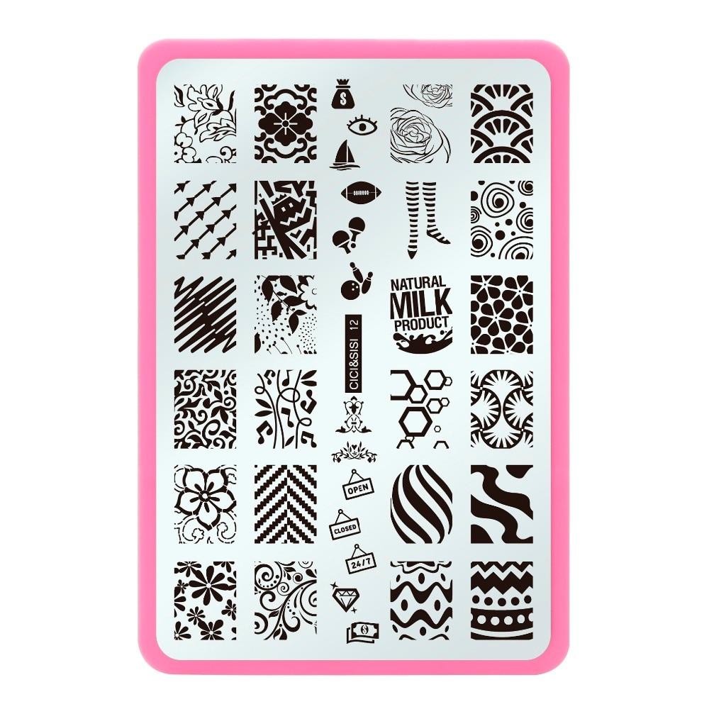 CICI&SISI Nail Template Beauty Image Nail Art Stencils