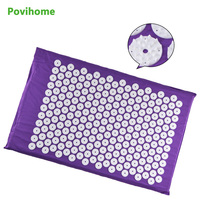 68 42cm Body Head Foot Massager Cushion Acupressure Mat Relieve Stress Yoga Mat Purple Body Massage