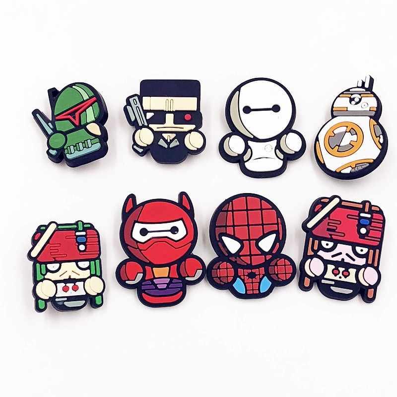 1pcs Spider Man Pirate Robot R2d2 Character Hero Cartoon Pvc