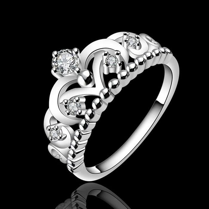 pandora anello a forma di corona