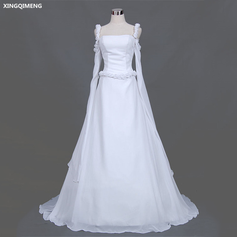 Elegant Simple Long Sleeve Wedding Dress: Aliexpress.com : Buy Elegant Flare Sleeve Wedding Dress