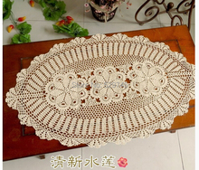 Christmas decorations Handmade Crochet flowers Oval Tablecloth Cotton Table Runner openwork Doilies Vase mats lamp mat