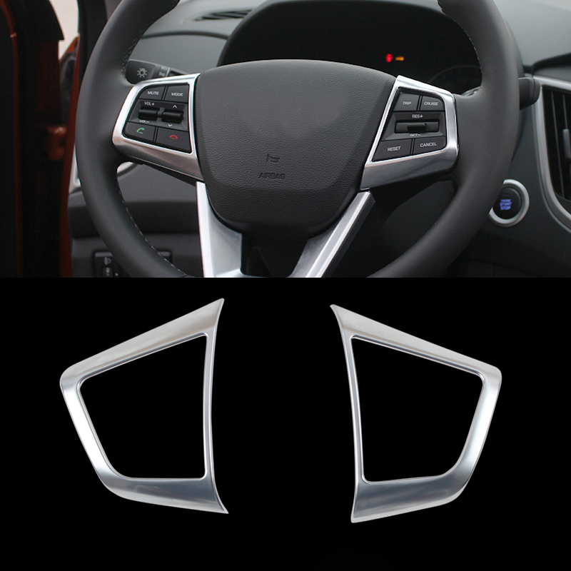 Car Styling 2pcs Set Abs Interior Steering Wheel Sequins