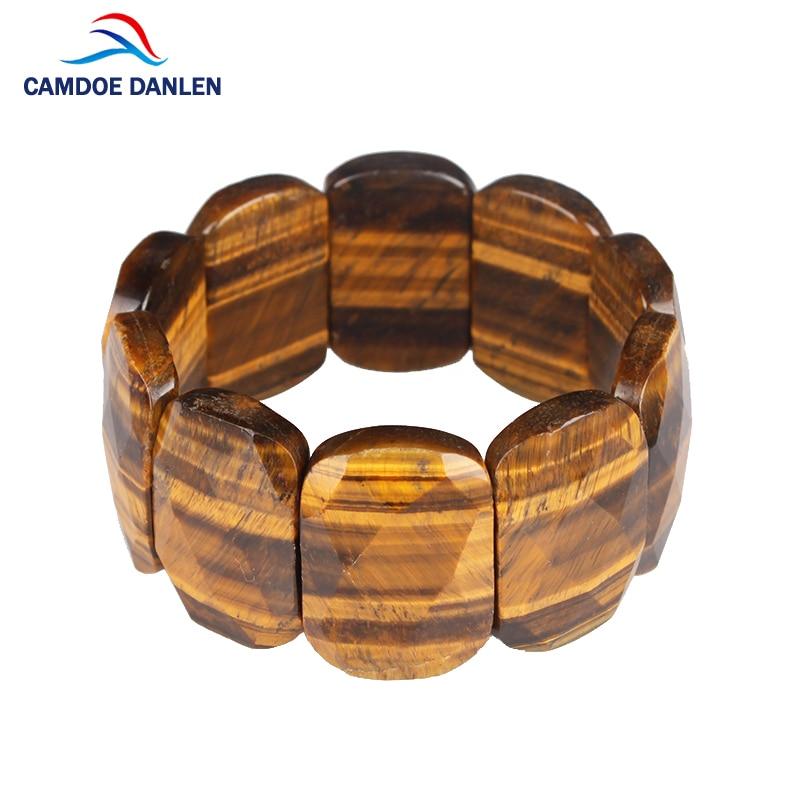 2017 New Three Style Tiger Eye Stone Faceted Bracelet Buddha Bian Bangles Charm Natural Stone Bracelet yoga Jewelry Men Women