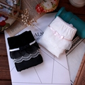 Japan fresh black and white classic Hepburn wind temperament cotton lace panties women underwear string tanga bragas briefs