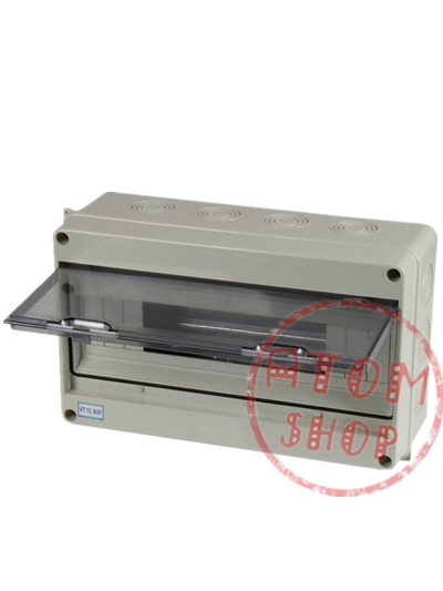 ABS plastic box PC lid  15Way Waterproof IP65 Electrical Distribution Box Size 300*190*110mm
