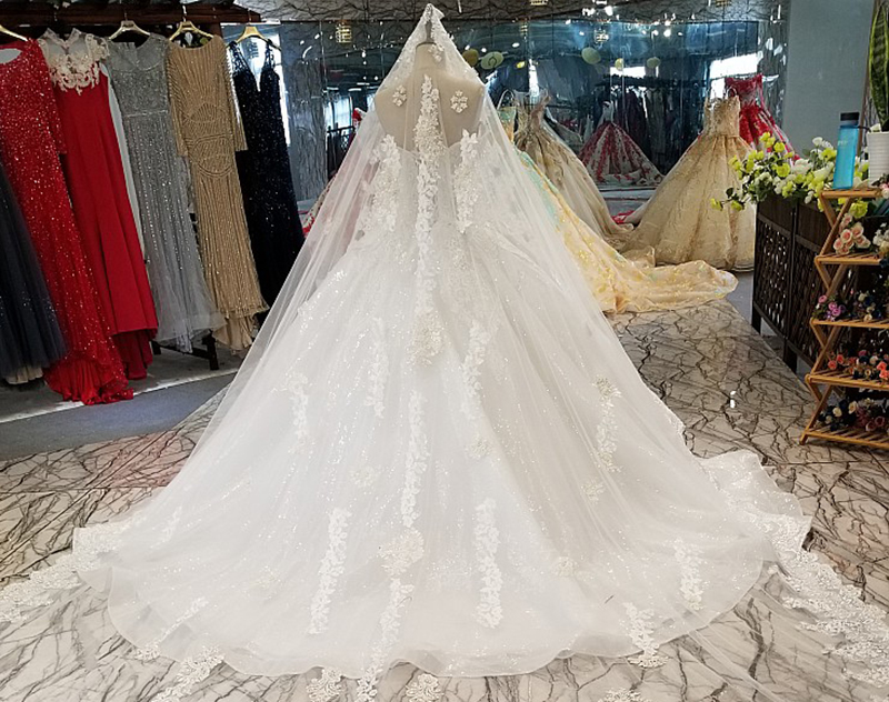 Image 4 - LS14440 plus size ivory wedding gown with beads sweetheart wholesale beauty bridal wedding dress long veil made in china factoryWedding Dresses   -