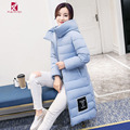 2016 New Winter Long Style Down Jackets Women Fashion Slim Casual Thick Long Hooded Down Coat Winter Jacket For Ladies CYRF004