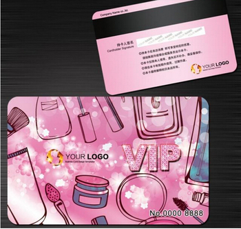 1000pcs custom plastic VIP cards /Hico + encoding membership card/ gift discount cards printing service loyalty card 1