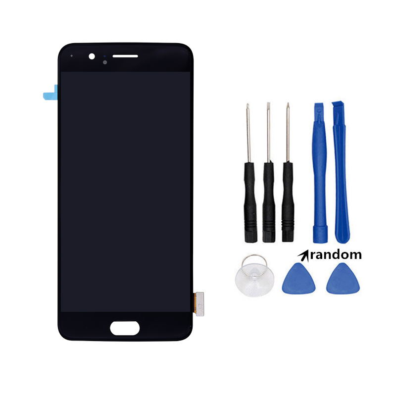 Netcosy Pour OnePlus 5 A5000 5.5 pouces écran lcd + numériseur à écran tactile Pour 1 + Oneplus 5 A5000 5.5 ''écran lcd Assemblée + outils