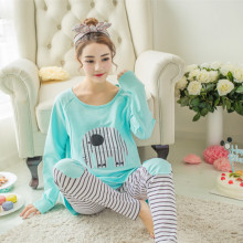 2019 Pregnancy Sleepwear Cartoon Tops Pants 2PCS Casual Maternity Nursing Pajamas Sets Autumn Pregnant Night Nightgown