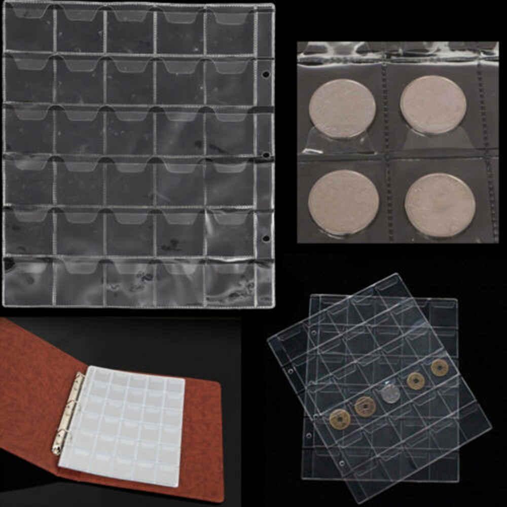 5 страниц X 30 карманов прозрачный Альбом для монет Альбом для коллекции монет коллекционирование монет Пенни органайзер для денег мини сумка для хранения монет
