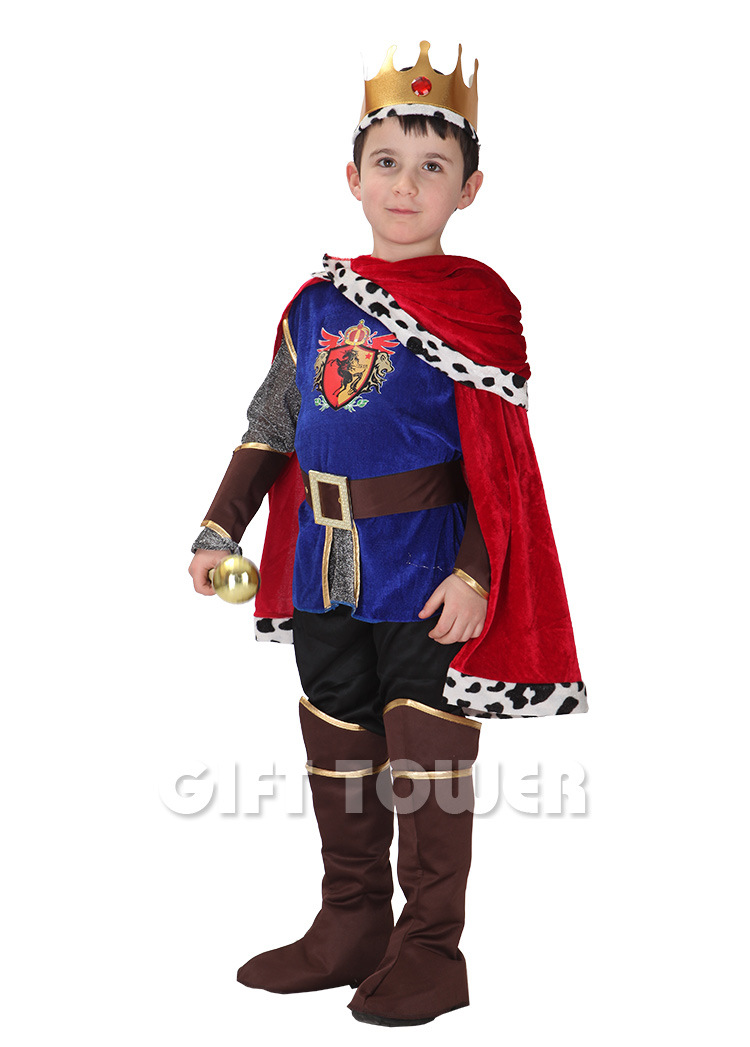 Boys Hallowma Costume Prince Charming Costumes Cosplay Arab King Halloween Fantasia Clothing Party Performance Costumes GT052
