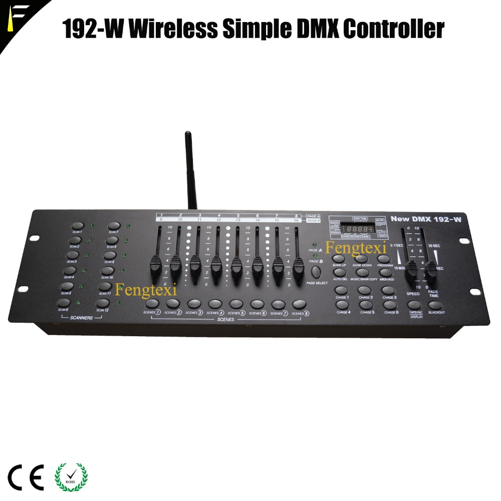 2.4G Wireless DMX512 Portable Console Desk With Wireless For Stage Light DMX Controller DMX-192 Fit Performance Wedding Stage2.4G Wireless DMX512 Portable Console Desk With Wireless For Stage Light DMX Controller DMX-192 Fit Performance Wedding Stage