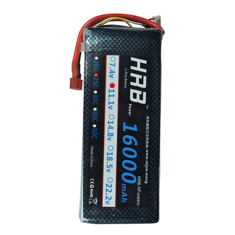 HRB RC Lipo 3S Battery 16000mAh 11 1V 25C MAX 50C For RC Helicopter Car Bateria