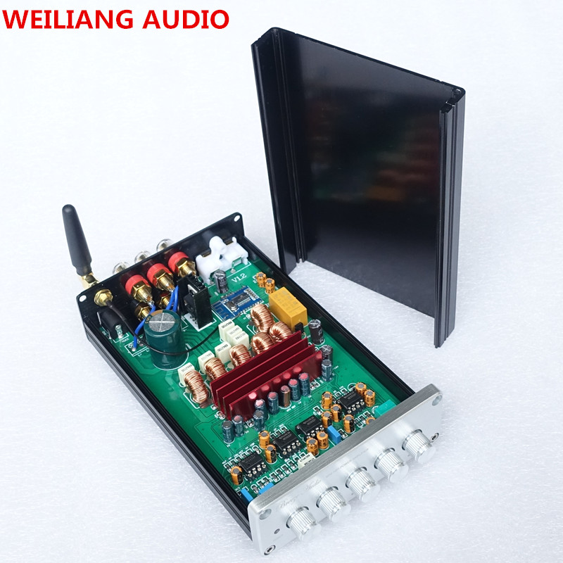 Бриз Аудио mini 2,1 цифровой усилитель мощности TPA3116 50 Вт * 2/100 Вт сабвуфер rca приемник Bluetooth без адаптер DP1B