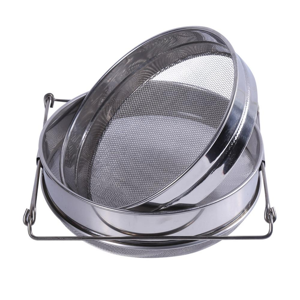 Stainless Steel Double Layer Adjustable Honey Strainer Filter Sieve Equipment