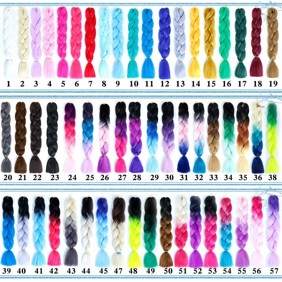 Jumbo Braids 2019 Fashion Difei 24inch Synthetic Jumbo Braids Hair 100g/pack Kanekalon Hair Blonde Pink Blue Braiding Hair Extensions Crochet Hair Hair Braids
