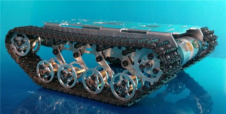 Smart Arduino Tank Track Suspension System System Alumini Alloy Tank - Lodra me telekomandë - Foto 2