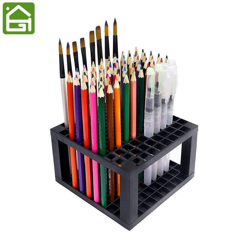 96 Hole Pen Pencil Mesh Holder Stationery Container Desk Organiser Office School