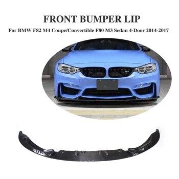 Fibra De carbono Frente Lip Spoiler para BMW F82 M4 F80 M3 4-Porta Sedan Coupe Convertible 2014- 2017