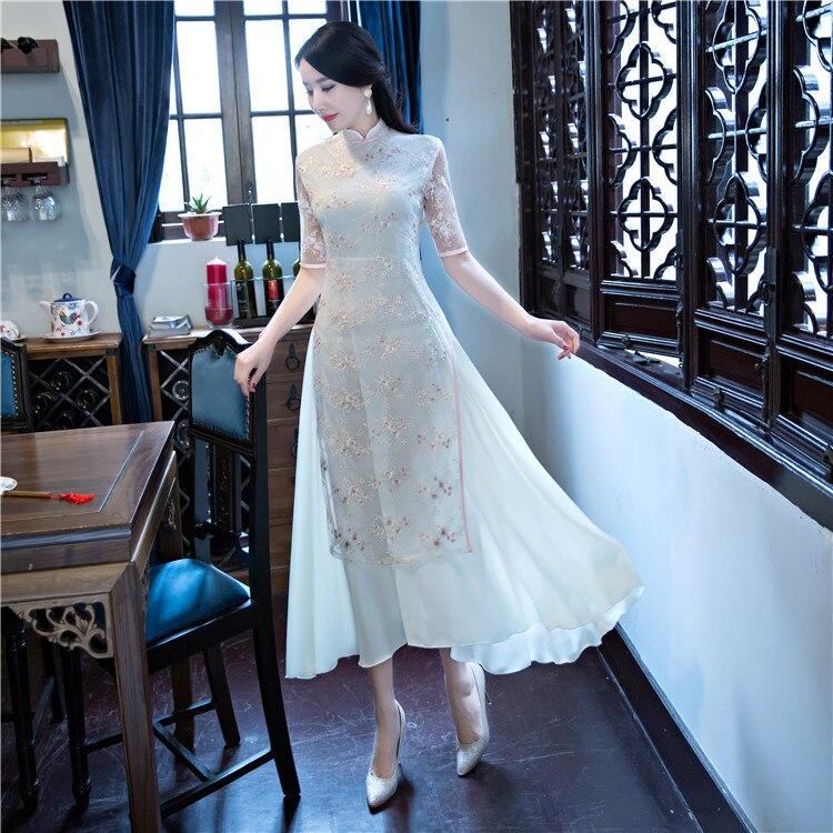 современная мода китайский стиль kruger вышивать