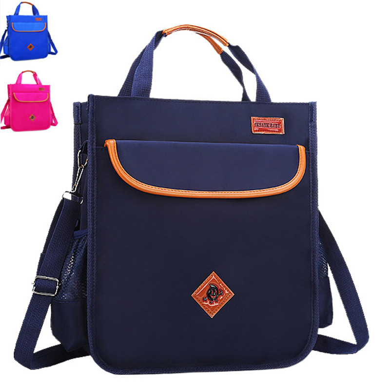 NEW Waterproof Tutoring Bag Elementary School Students Grade 3-5 Schoolbag Tutorials Bags children Reflective Safe Messenger bag