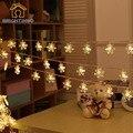 Copo de nieve de la Secuencia de La Batería Operado 20 Led Colgante de Luz para el Dormitorio de la Decoración de Navidad Árbol de Navidad de Interior Al Aire Libre Luces de Hadas