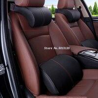 Encosto de cabeça do carro pescoço travesseiro espuma memória assento almofadas volta apoio memória espuma almofada para hyundai santa fe 2019 2020 stylings carro