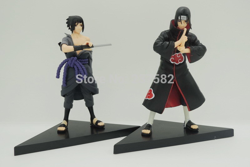 New 2pcs/set 14cm <font><b>PVC</b></font> japanese <font><b>anime</b></font> <font><b>figures</b></font> <font><b>naruto</b></font> Dolls <font><b>Uchiha</b></font> Sasuke + <font><b>Uchiha</b></font> <font><b>itachi</b></font> game <font><b>Naruto</b></font> shippuden <font><b>Action</b></font> <font><b>Figure</b></font> Toy