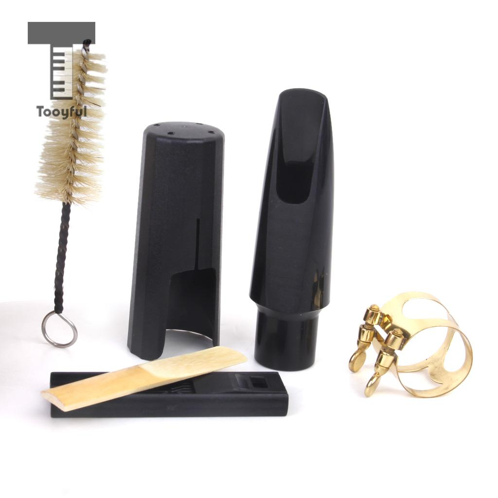 Tooyful High Quality Plastic Tenor Saxophone Mouthpiece + Cleaning Kit Accessory for Professional Acoustic Brand Guitar Lovers
