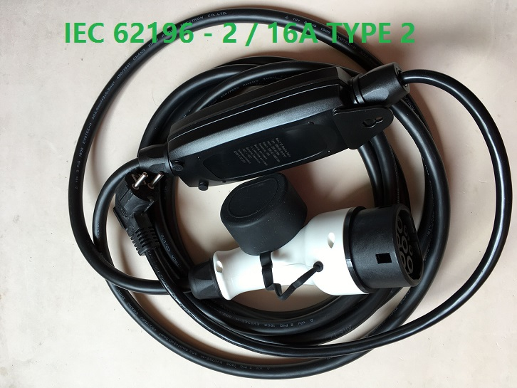 ZWET  IEC 62196 2/16A Type 2 electric vehicle charger IEC 62196 2 standard Type 2 NEW ELECTRIC CAR CHARGER EVSE LEVEL 1 M 3 pie-in Chargers & Service Equipment from Automobiles & Motorcycles    2