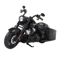Maisto 1:12 2017 harley road king khusus sepeda motor hitam diecast anak motorbike model die cast sepeda motor mainan model 32336