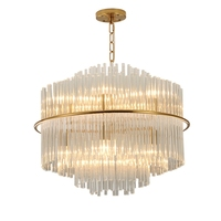 Postmodern Luxurious led Chandelier for Living Room Bedroom Lamparas Gold color Chandeliers K9 crystal Engineering Fixtures Lamp
