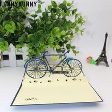 FUNNYBUNNY 3D pop up handmade laser cut vintage cards