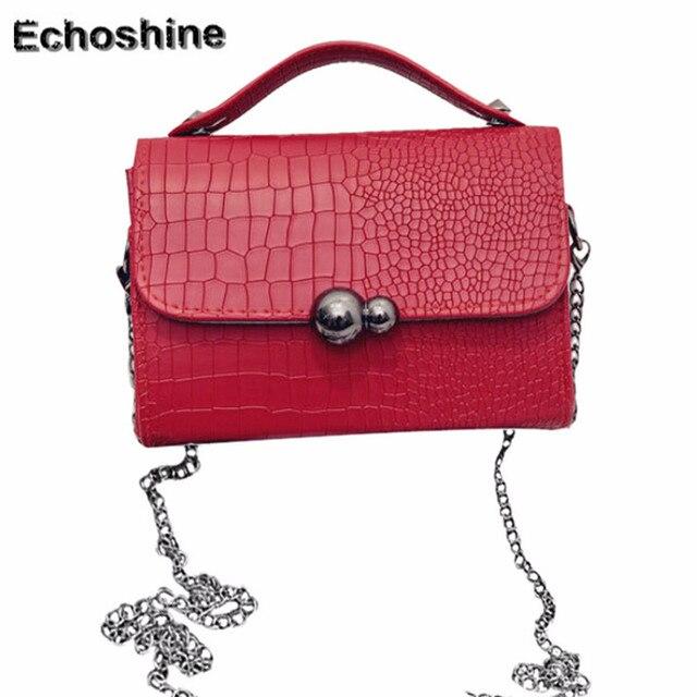 64a8d52c26 2016 newest Women Fashion Vintage Crocodile Bag Metal Small Shoulder Bag  Messenger Bag gift wholesale bolsa