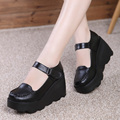 genuine leather shoes platform shoes Comfortable wedges shoes for woman  sy-2015