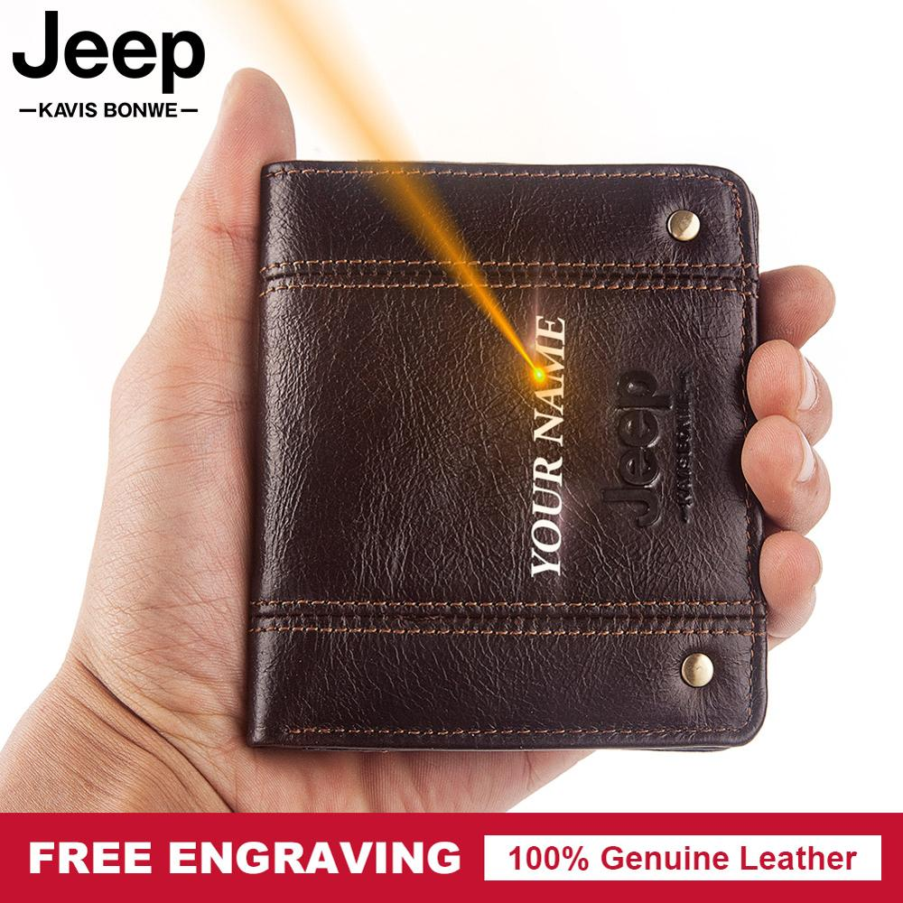 Free Engraving Name Gift Cow Genuine Leather Wallet Men Coin Purse Small Mini Card Holder PORTFOLIO Fashion Portomonee Hasp Male