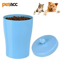 Petacc 3.4lb Capacity High quality Silicone Pet Food Container Sealed Pet Food Bin Durable Dog Food Storage Can