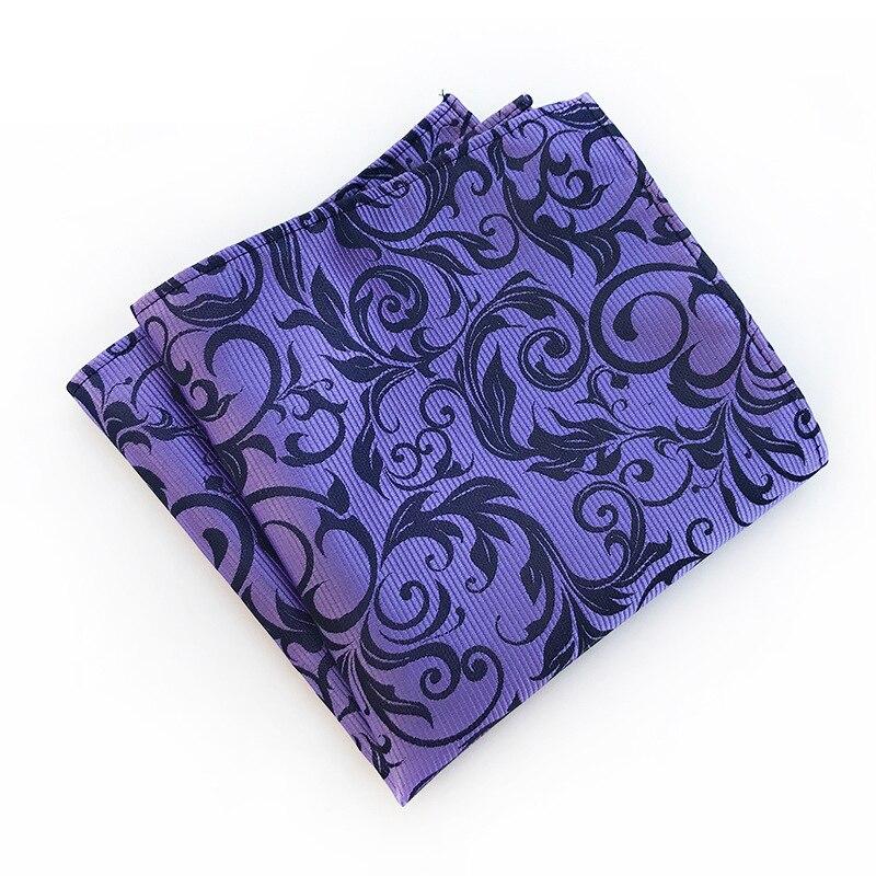 Paisley Floral Printed Handkerchiefs For Men Suit Pattern Pocket Square Polyester Hankies Hanky Wedding Pocket Towel