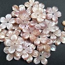 10 piezas al por mayor envío gratis hermosa joyería 14mm Rosa Madre de la perla Shell flor mujeres hombres colgante cuenta pMC4821