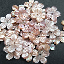 10pcs Wholesale Free Shipping Beautiful jewelry 14mm Pink Mother of pearl Shell Flower Women Men Pendant Bead pMC4821