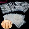 Mileegirl 30 Folhas/Lote Branco Rendas Unhas Adesivos, 3D Mix Projeto de Transferência de Água Etiqueta Do Prego, Etiqueta Da Arte Do Prego decalque Manicure DIY Decoração