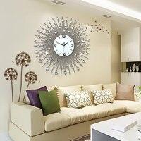 Creative Metal Quartz 3d Wall Clock Of Europe Style Iron Art M9100 75 75*75CM