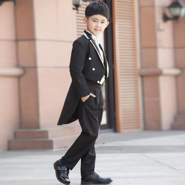 Online Shop 2018 Boys Suits For Weddings Kids Prom Suits Black ...