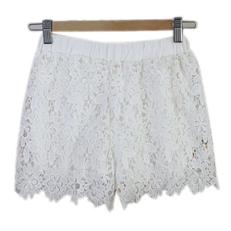 Sexy Women Floral Lace   Shorts   Summer Casual Beach Hot Sale   Short   High Waist   Shorts   Fashion Office Ladies Travelling Clothes