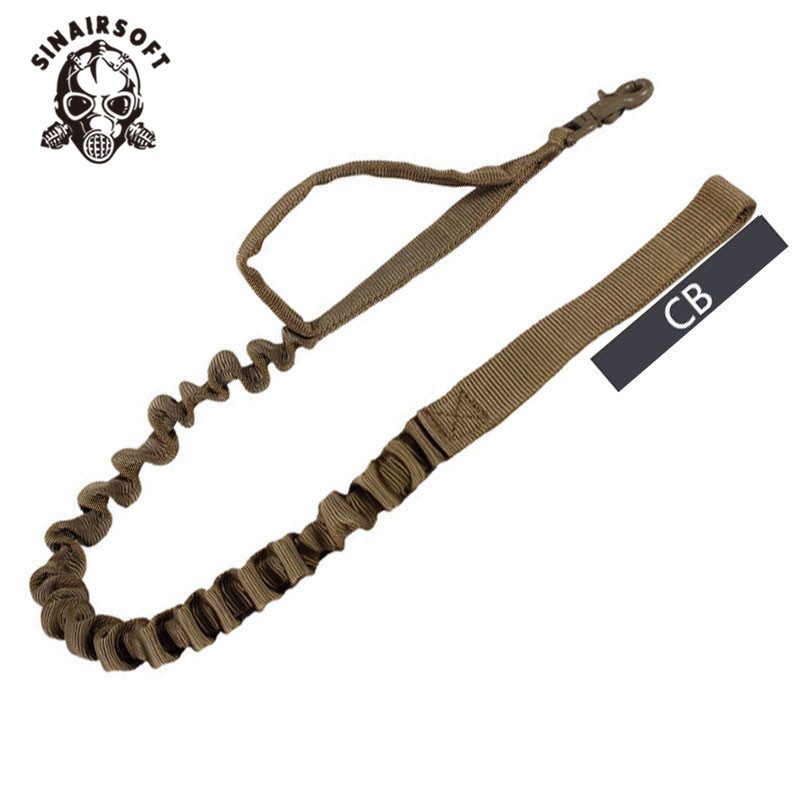 SINAIRSOFT TACTICAL US Army Dog Training Leash Military 1000D Bungee Nylon Belt Retractable Heavy Duty Panic Snap Hunting