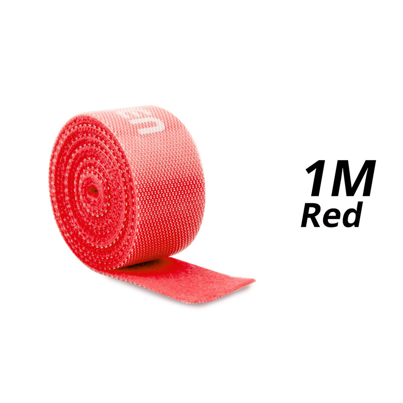 1m Red Velcro